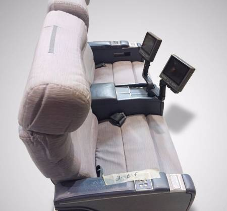 Executive double chair with TV from TAP airplane - 4