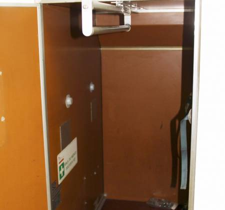 Suits and emergency cabinet from TAP airplane