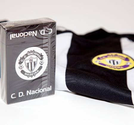 Pack camisolas + baralho de cartas do Nacional da Madeira (2016/2017)