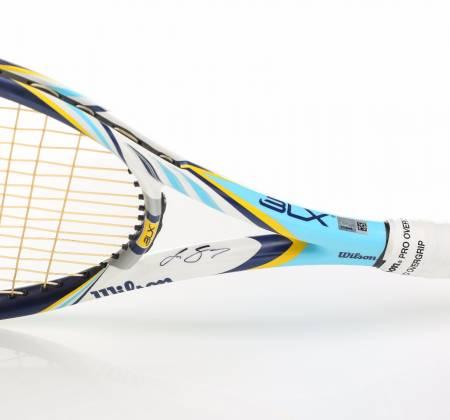 Raquete que João Sousa usou na final em Kuala Lumpur