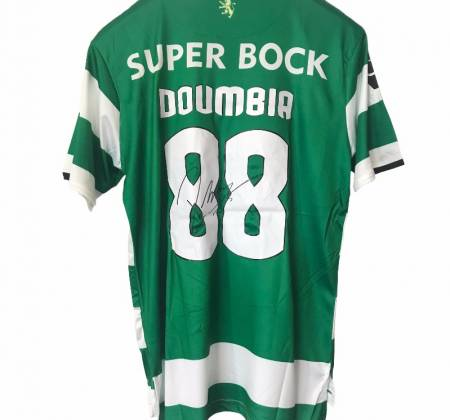 Replica of the Doumbia jersey, Sporting CP, autographed by the player