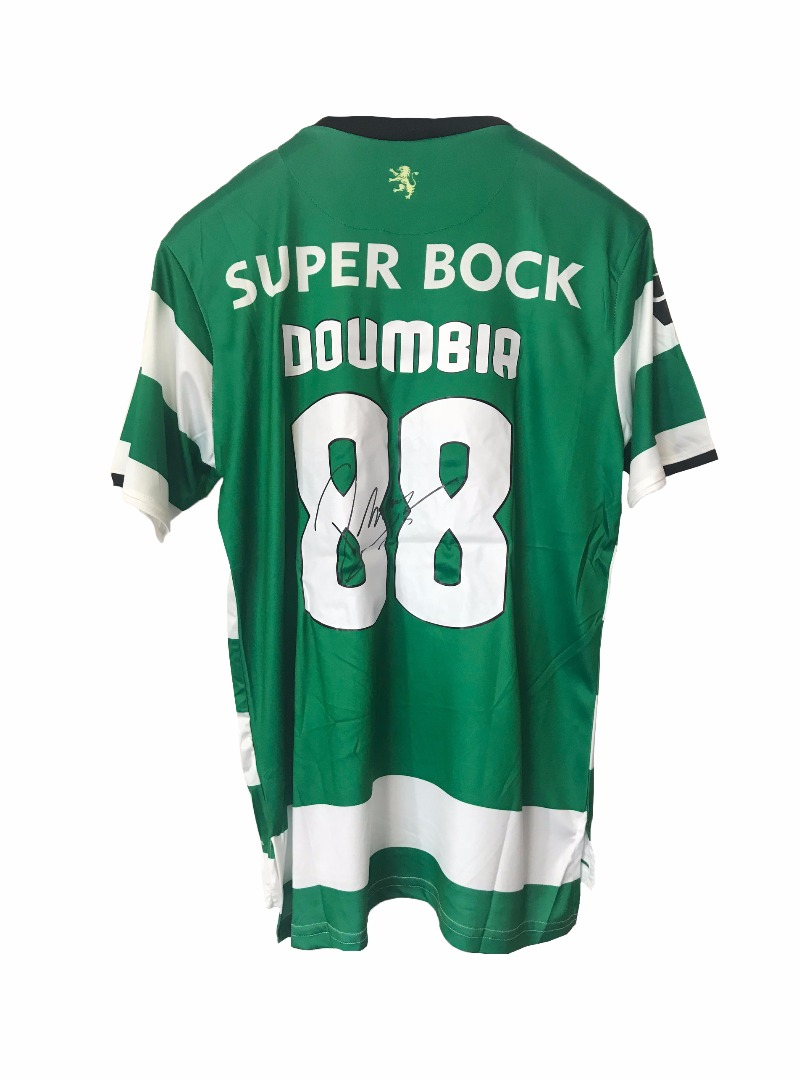Réplica da camisola de Doumbia, Sporting CP, autografada pelo jogador