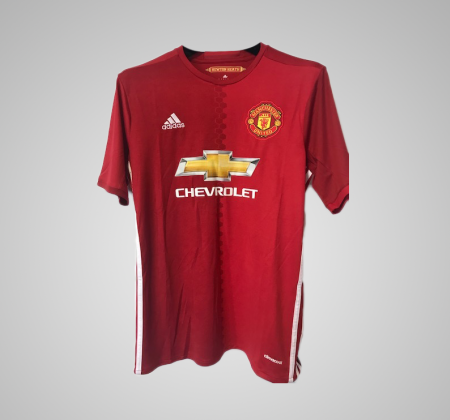 Ibrahimovic jersey of the Manchester United, autographed by the player