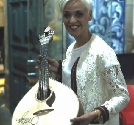 Portuguese guitar autographed by Mariza