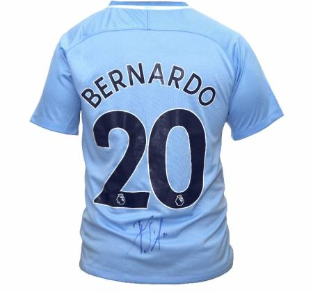 Manchester City's Bernardo Silva jersey autographed by the player