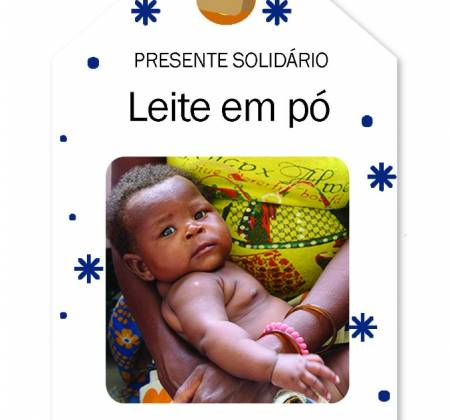 Presente solidário de natal - leite em pó