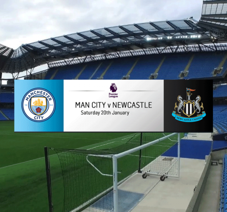 2 Tickets for Etihad Tunnel Club - Manchester City vs Newcastle United