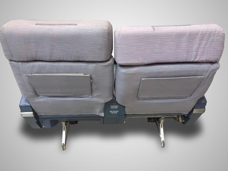Cadeira dupla sem TV do avião da TAP Air Portugal - 1