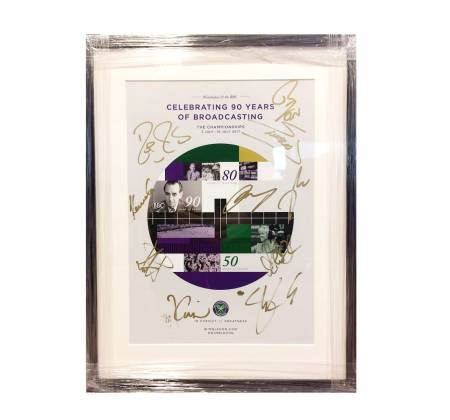 Official Wimbledon 2017 Poster Signed by Tennis Legends