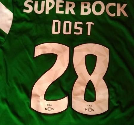 Camisola de Bas Dost do Sporting CP, autografada pelo plantel