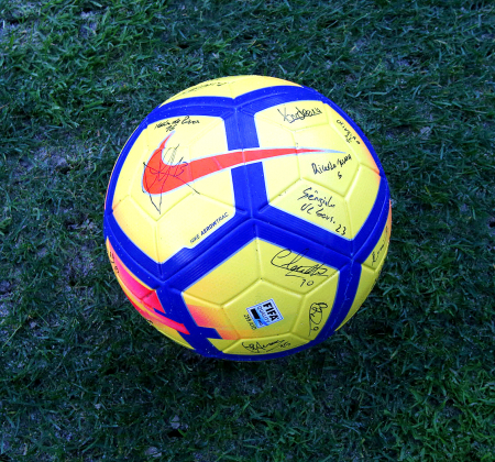 Nike ball signed by the team of UD Oliveirense - Taça CTT Final Four
