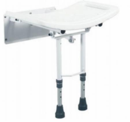 Assento de banho rebatível com pernas