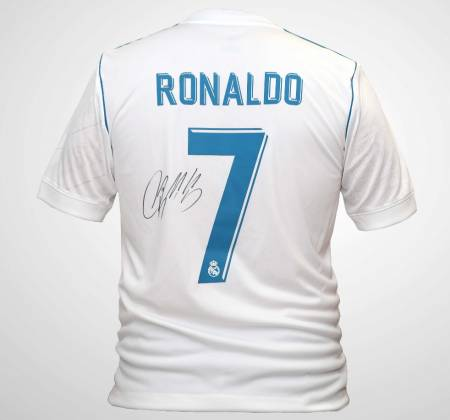 Real Madrid Cristiano Ronaldo shirt signed by the player