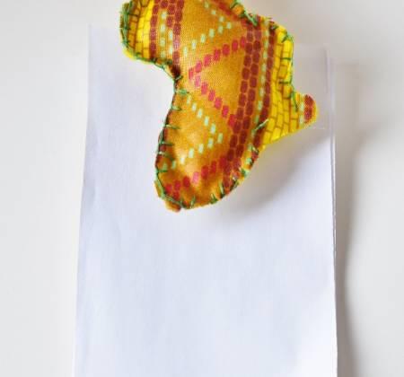 Iman Africa com mola para bloco de notas
