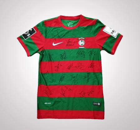 Clube Sport Marítimo jersey, autographed by all team