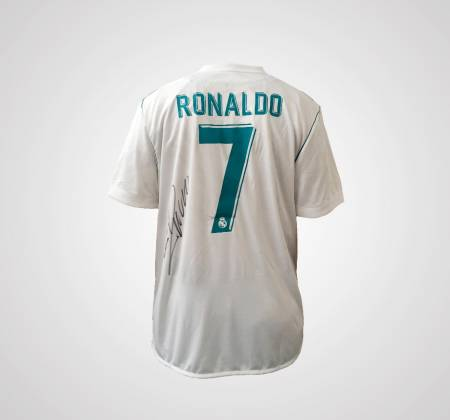 Real Madrid jersey signed by Cristiano Ronaldo CR7