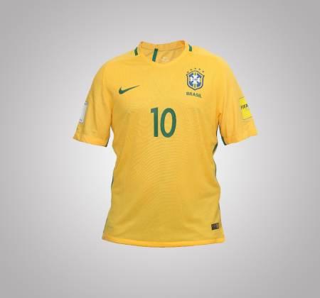 Autographed Neymar JR jersey from the Brazilian National Team