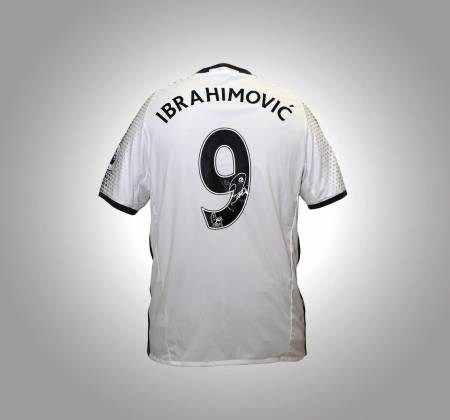 Ibrahimovic's jersey, Manchester United, autographed by the player