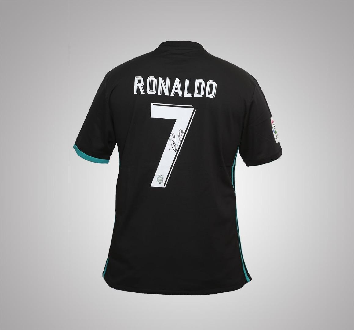 Camisola de Cristiano Ronaldo do Real Madrid, autografada pelo jogador