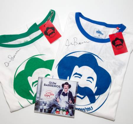 Quim Barreiros album and 2 t-shirts autographed by the artist