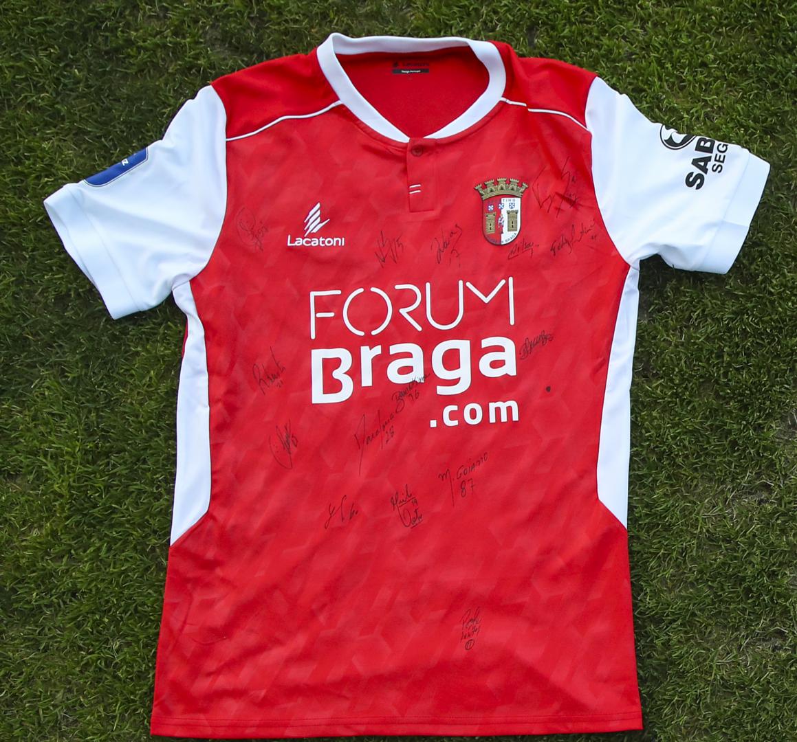 Camisola do SC Braga autografada pelo plantel - Final Four 2019