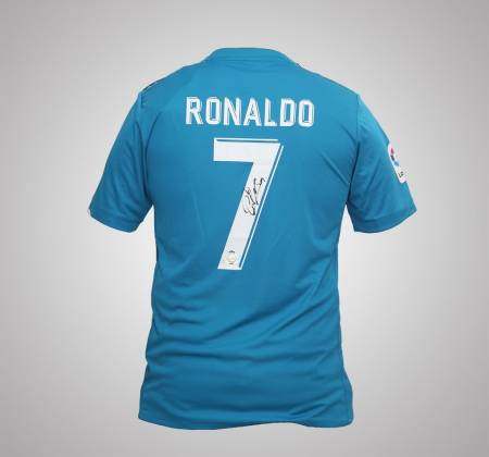 Autographed Ronaldo jersey from the Real Madrid