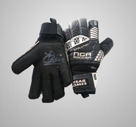 Cesár Gomes's Autographed Goalkeeper Gloves