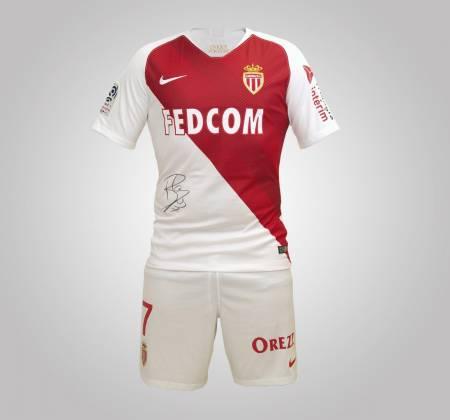 Rony Lopes Monaco FC's jersey and shorts