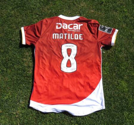 CD Aves jersey worn by Braga at a game