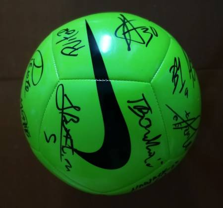 A Rio Ave FC Nike's ball signed by the squad