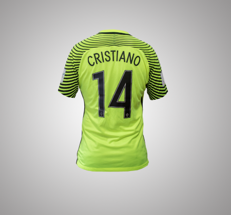 National Team futsal jersey autographed by Cristiano