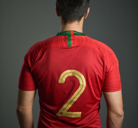 Camisola da Seleção de futsal autografada por André Coelho
