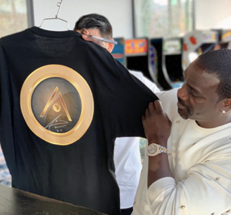 Akoin Black t-shirt autographed by Akon