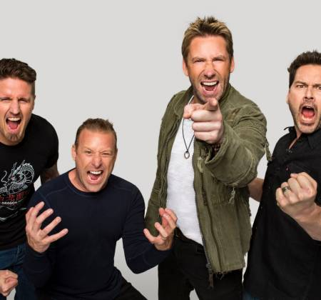Meet & Greet and guitar autographed by Nickelback at Rock in Rio 2019