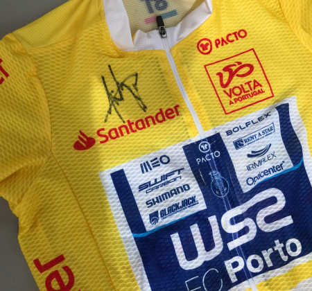 Yellow jersey signed by João Rodrigues from 81 Volta a Portugal