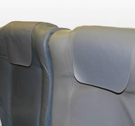Cadeira tripla económica de um avião da TAP Air Portugal - 4