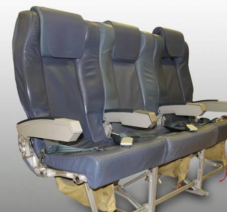 Cadeira tripla executiva de um avião da TAP Air Portugal - 1