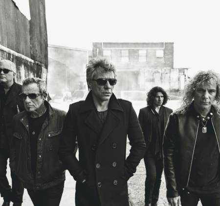Pele de bateria autografada do Bon Jovi no Rock in Rio 2019