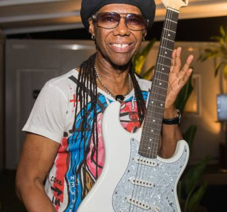 Signed Guitar by Nile Rodgers at Rock in Rio 2019