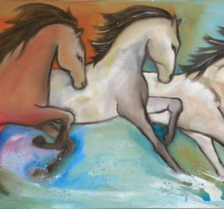 Obra de Ligia Romano intitulada '3 Horses'