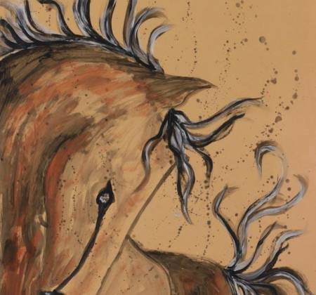 Obra de Ligia Romano intitulada 'Cavalo', de 2015