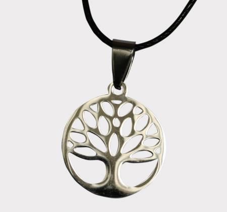 Colar de Aço Inox: Árvore da Vida