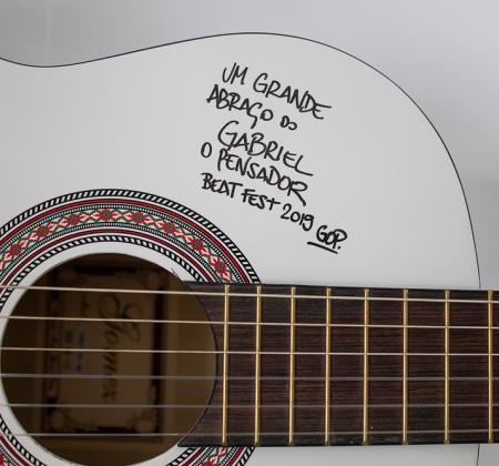 Signed Guitar by Gabriel O Pensador