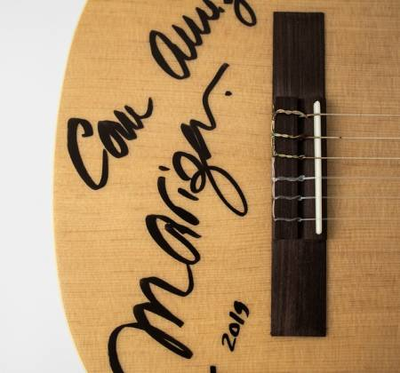 Signed guitar by Mariza