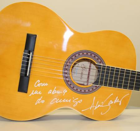 Signed Guitar by André Sardet