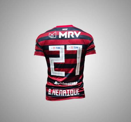 Clube Regatas do Flamengo's jersey signed by player Bruno Henrique