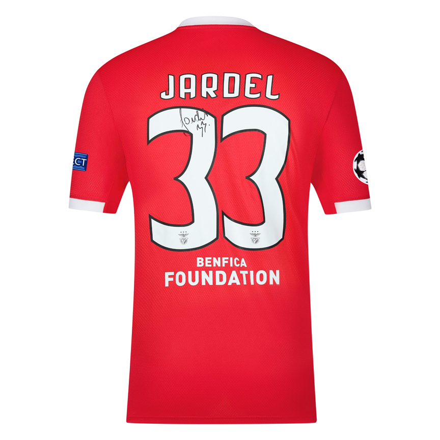 Camisola de Jardel autografada pelo jogador
