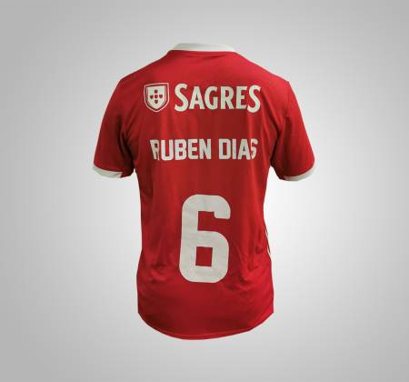 Camisola oficial de jogo de Rúben Dias do Sport Lisboa e Benfica