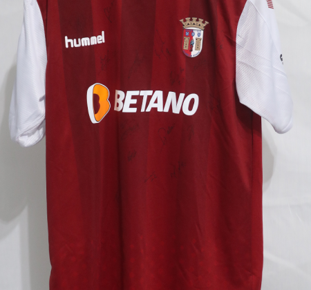 Camisola do SC Braga autografada pelo plantel - Final Four Allianz CUP 2020