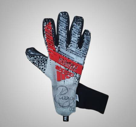 Glove signed by goalkeeper Diego Alves from Clube Regatas do Flamengo
